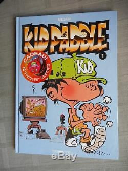 Midam Kid Paddle Tome 1 Game Over Eo Complet Des Pogs Paddles Neuf + Dédicace