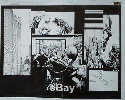 New Avengers 11 Page 20 & 21 David Finch Original Art