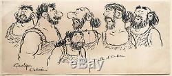 ONKR dessin original de TENAS pour le Journal de Mickey 1965 planche originale
