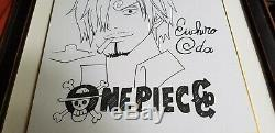 One Piece Signed Eiichiro Oda Original Drawing Autograph