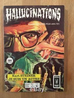 Original de couverture Hallucinations numéro 45 (1975) Musquera TBE