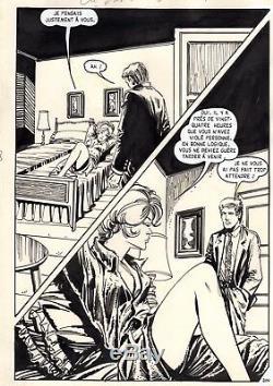 Ou Vas-tu Vicomte (dessins Musquera) Planche Originale Aredit Page 204 Pin-up