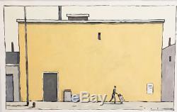 PEINTURE François AVRIL 59 x 72 Maisons Acrylique signée et encadrée