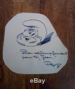 PEYO Dedicace Autographe Signée / 1976
