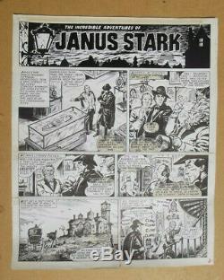 PLANCHE ORIGINALE JANUS STARK Francisco Solano Lopez 1973 VALIANT Mon journal