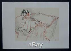 Paul Cesar HELLEU 1896 La lecture dessin planche Originale ancienne Art Nouveau