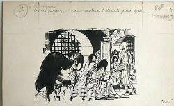 Pichard Illustration Encre De Chine IL Tient Captives 300 Jeunes Filles