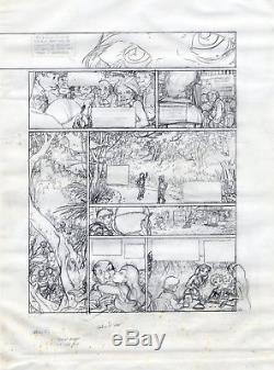 Planche Crayonnée originale aboutie du Vent dans les Saules de Michel PLESSIX