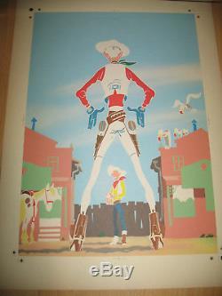 Planche Originale Imprimerie Essai De Couleur Couverture Lucky Luke Phildefer