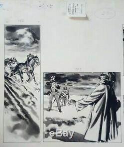 Planche bande dessinée Brenot guerre Napoleon 1er France-Dimanche XXème