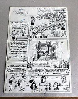 Planche original encre de chine de la série Mowgli jeux dans spirou Eddy Paape