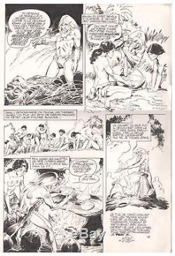 Planche originale André CHERET RAHAN le secret merveilleux de 1976