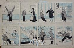 Planche originale BD Monsieur Arc en Ciel Vers 1900 (André Hellé)