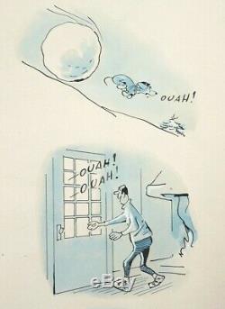Planche originale Dessin de COQ pour AZOR le chien Jours De France 479