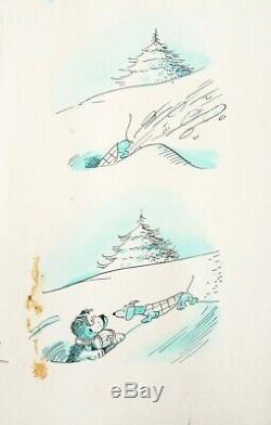 Planche originale Dessin de COQ pour AZOR le chien strip pour Jours De France