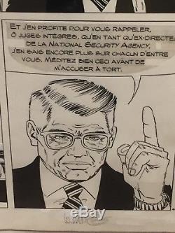 Planche originale XIII (TREIZE) tome 19 LE DERNIER ROUND signé VANCE