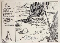 Planche originale attr. Guido ZAMPERONI parue dans AUDACE vers 1945 Italie