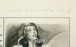 Planche originale au lavis de Nadir QUINTO (1918-1994) vers 1955 Italie