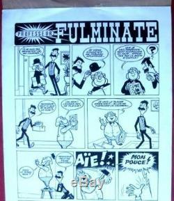Planche originale d' ERIK BD dessin original albums Fulminate