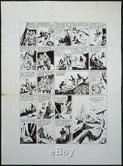 Planche originale de CAPITAINE TORNADE par Claude-Henri JUILLARD pour ZORRO 1955