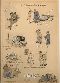Planche originale de Joseph Pinchon (Bécassine) dessin inédit