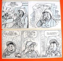 Planche originale de PELLOS les Pieds Nickelés dessin original BD albums