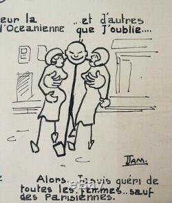Planche originale de Paul JAMIN dit JAM Collaborateur de HERGÉ Tintin vers 1930