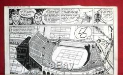Planche originale de REDING dessin original BD journal Tintin pour JARI
