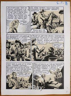 Planche originale de SITTING BULL par DUT pour COQ HARDI Marijac 1950