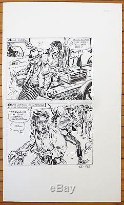 Planche originale dessin de Victor De La FUENTE pour Mortimer Western 1974