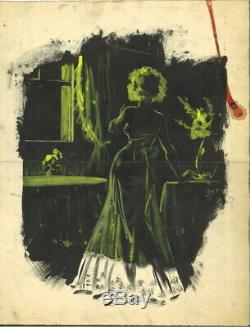 Planche originale dessin gouache Guido BUZZELLI dedicace illustration Aquarelle