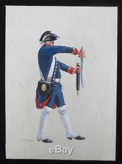 Planche originale dessinée par Michel PÉTARD- 1990 signé Uniforme Empire
