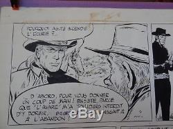 Planche originale signées de Teddy Ted dessinées par Gérald Forton en 1971