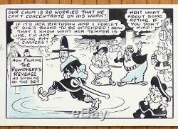 Planche originale strip Terry Thomas par Terry WAKEFIELD pour Film-Fun en 1958