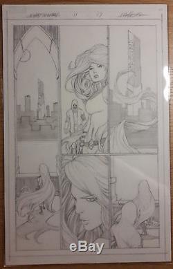 Planche originale uncanny inhumans C. PACHECO original comic art MARVEL MEDUSA