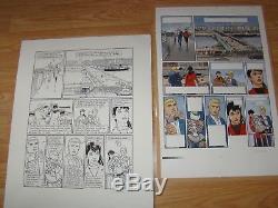 Planches originales bd Tramp-Jusseaume no Vance, Swolfs, Hergé, Uderzo, Franquin