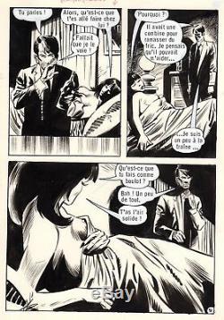 Quand Lecomte S'en Mele (dessins Riba) Planche Originale Aredit Page 51 Erotique