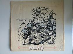 RAYMOND CAZANAVE 10 PLANCHES ORIGINALES BD superbe ensemble 1941 PIERROT DESSIN