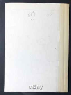 ROBA BOULE ET BILL DESSIN ORIGINAL ENCRE DE CHINE 1825 Cm SIGNE RARE