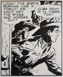 ROY ROGERS Planche originale de McKIMSON daté 1950 daily strip proche Alex TOTH