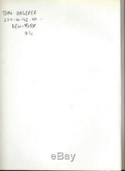 Rare 1969 Tomi Ungerer + Dédicace & Dessin Original The Party