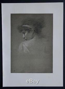 Robert FOWLER 1896 Etude dessin planche Originale ancienne Art & Craft croquis