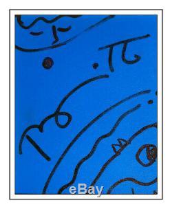 Romero Britto Original Encre Dessin sur Planche Signé Portrait Moderne Pop uvre