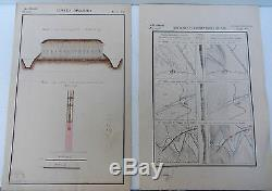 Saint Cyr Topographie militaire XIXème Planches Cartes Plans Dessins originaux @