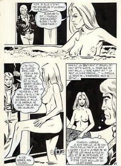 Sam Et Sally La Belle Et Satan (dessins Pizarro) Planche Originale Page 41