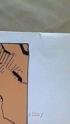 Sérigraphie signée rarissime Superman par Moebius 1984