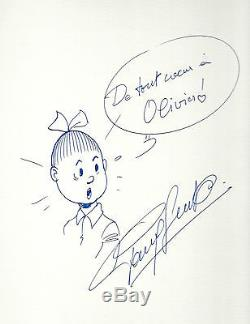 Superbe Dessin Original De Paul Geerts + Bob & Bobette (angoulême 1981)