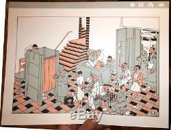 Swarte croquis calque original publié portfolio ENFIN 1980
