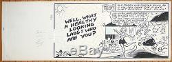 Terry Thomas Planche originale par Terry WAKEFIELD pour Film-Fun année 1958