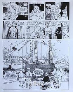 Theodore Poussinexceptionnelle Planche 41 Le Dernier Voyage De L'amok (le Gall)